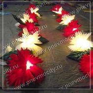 Пневмогирлянда на свадьбу Гвоздика разноцветная 7 м, фото 1