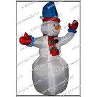 Надувной костюм. Снеговик., фото 1