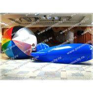 Рекламный Дирижабль Синий 6 х 2,2 м, фото 1