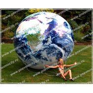 Рекламный Аэростат Шар «Земной шар» 3 м, фото 1