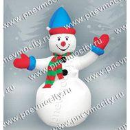 Надувной Снеговик. С шарфом., фото 1
