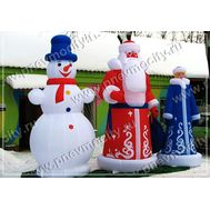 Надувной Снеговик В шляпе С шарфом, фото 1