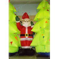 Надувной Санта Клаус. С Надувными елками, фото 1