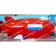 Рекламный дирижабль Красный Флаг России 6 х 2.2 м, фото 1