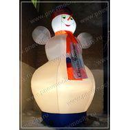 Надувной Снеговик. С подсветкой, фото 1