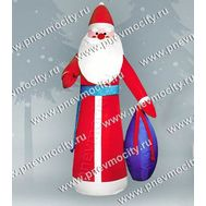 Новогодняя фигура. Надувной Дед Мороз с мешком. С подсветкой., фото 1
