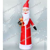 Надувной Дед Мороз. С игрушкой. С подсветкой., фото 1