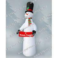 """Новогодняя фигура. Надувной Снеговик """"С Новым годом!"""". С подсветкой., фото 1"""