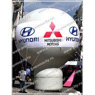 Надувной рекламный шар На стойке Большой, фото 1