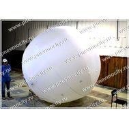 Рекламный шар Аэростат Газовый Белый, фото 1