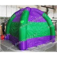 Надувная палатка. Фиолетово-зеленая, фото 1