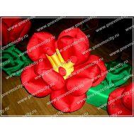 Украшение надувной цветок Красный, фото 1