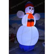 Надувной Снеговик. Живой 3,5 м, фото 1
