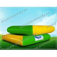 Мобильный аттракцион бассейн. Желто-зеленый 3 х 3 х 0,6 м, фото 1