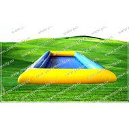 Надувной бассейн. Прямоугольный. Желто-голубой., фото 1