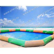 Надувной бассейн большой. Полосатый, желто-зеленый., фото 1