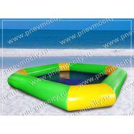 Большой надувной бассейн зелено-желтый, фото 1