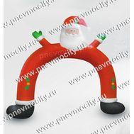 """Новогодняя надувная фигура.Арка """"Дед Мороз"""" 2,4 м, фото 1"""