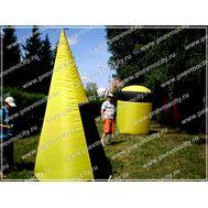 Пневмоконструкции для пейнтбола Желто-черные, фото 1