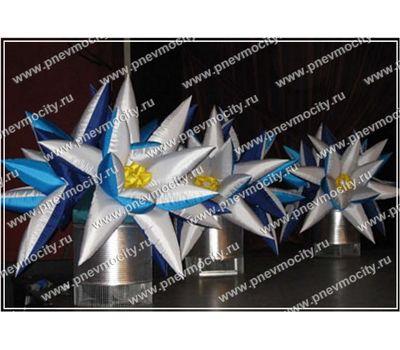 Надувная фигура. Цветок. Бело-голубой., фото 1
