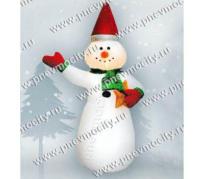 Надувной Снеговик со звездочкой. С подсветкой., фото 1