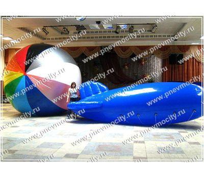 Рекламный Дирижабль. Синий 6 х 2.2 м, фото 1