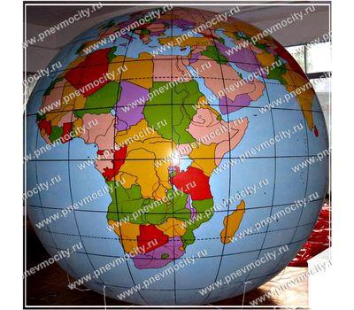Надувной рекламный шар Глобус 3 м, фото 1