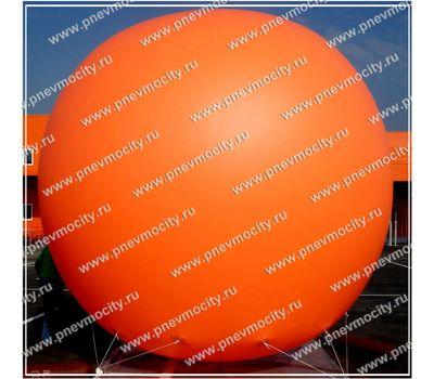 Надувной рекламный шар Оранжевый 4 м, фото 1