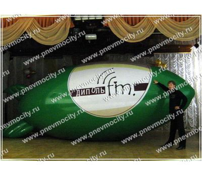 Рекламный Дирижабль Зеленый 6 х 2,2 м, фото 1