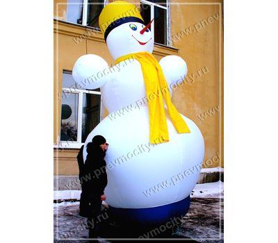 Надувной Снеговик. С шарфом, фото 1