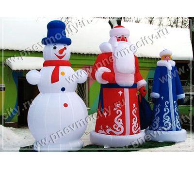 Надувной Снеговик. В шляпе. С шарфом., фото 1