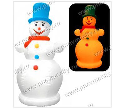 Надувной снеговик в цилиндре. С подсветкой., фото 1