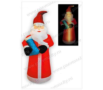 Надувной Дед Мороз С блестящим подарком С подсветкой, фото 1