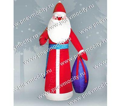 Новогодняя фигура Надувной Дед Мороз с мешком С подсветкой, фото 1