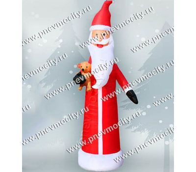 Надувной Дед Мороз С игрушкой С подсветкой, фото 1