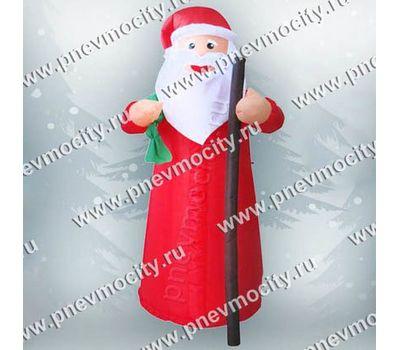 Надувной Дед Мороз с посохом и мешком, фото 1