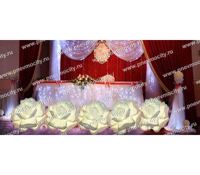 Надувные белые розы на свадьбу, фото 1