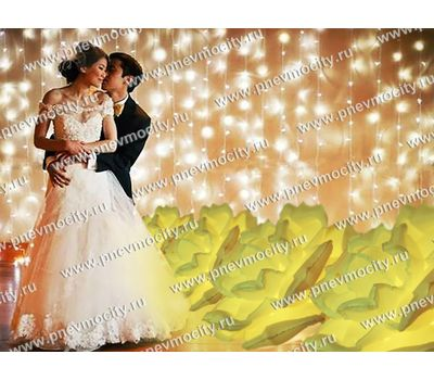 Надувные розы для оформления свадьбы, фото 1